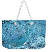 Sycamores And River Weekender Tote Bag