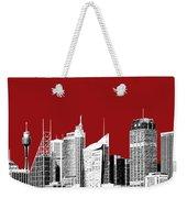Sydney Skyline 1 - Dark Red Weekender Tote Bag