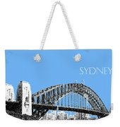 Sydney Skyline 2 Harbor Bridge - Light Blue Weekender Tote Bag