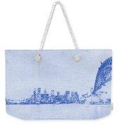 Sydney Skyline Blueprint Weekender Tote Bag