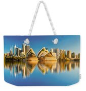 Sydney Skyline With Reflection Weekender Tote Bag
