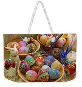 Symbols Of Easter- Spiritual And Secular Weekender Tote Bag by Gary Holmes