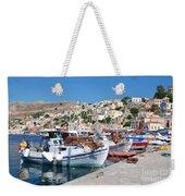 Symi Island Greece Weekender Tote Bag