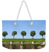 Symmetric Trees Over Old Fence Weekender Tote Bag