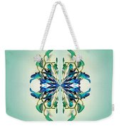 Symmetrical Orchid Art - Blues And Greens Weekender Tote Bag