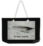 Sympathy Feather Weekender Tote Bag