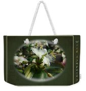 Sympathy Greeting Card - Elegant Floral Green And White Weekender Tote Bag