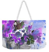 Symphony In Blue And Purple Weekender Tote Bag