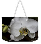 Symphony White Orchid Weekender Tote Bag