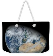 Synthesized View Of Earth Showing North Weekender Tote Bag