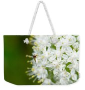 Syrphid Feeding On Alliium Blossom Weekender Tote Bag