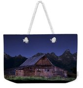 T. A. Moulton Homestead Barn At Night Weekender Tote Bag