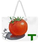 T Art Alphabet For Kids Room Weekender Tote Bag by Irina Sztukowski