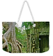 Ta Prohm And Tree Invasion In Angkor Wat Archeologial Park Near Siem Reap-cambodia Weekender Tote Bag