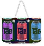 Tab Ode To Andy Warhol Black Weekender Tote Bag