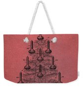 Table Christmas Tree Patent Red Weekender Tote Bag by Dan Sproul
