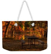 Table For Two Weekender Tote Bag