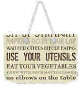 Table Manners 2 Weekender Tote Bag