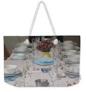 Table Set For A Jewish Festive Meal Weekender Tote Bag by Ilan Rosen