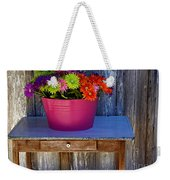 Table Top Flowers Weekender Tote Bag