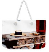Table With Hat And Book Weekender Tote Bag