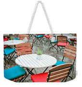 Tables And Chairs Weekender Tote Bag by Tom Gowanlock