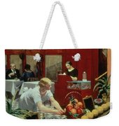 Tables For Ladies Weekender Tote Bag by Edward Hopper