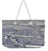 Tabular Icebergs Among Broken Fast Ice Weekender Tote Bag