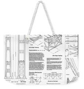 Tacoma Narrows Bridge Habs P2 Weekender Tote Bag by Photo Researchers