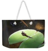 Tadpole On Lily Pad Weekender Tote Bag
