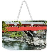 Taftsville Covered Bridge Vermont Weekender Tote Bag by Edward Fielding