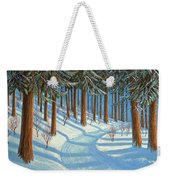 Tahoe Forest In Winter Weekender Tote Bag