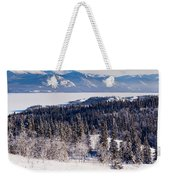Taiga Snowshoe Trail Landscape Yukon T Canada Weekender Tote Bag