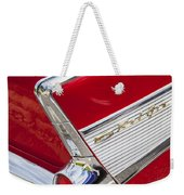 Tail Fins Are In 1957 Chevy Weekender Tote Bag