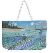 Tailing Bonefish In003 Weekender Tote Bag by Carey Chen
