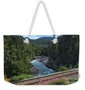 Train Tracks By The Cheakamus River Weekender Tote Bag