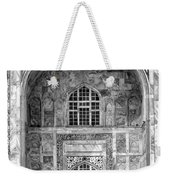 Taj Mahal Close Up In Black And White Weekender Tote Bag