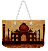 Taj Mahal Lovers Dream Original Coffee Painting Weekender Tote Bag