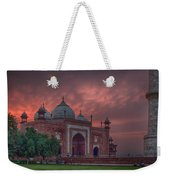 Taj Mahal Mosque At Sunset Weekender Tote Bag