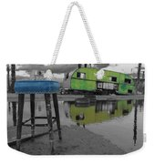 Take A Seat And Wait Ill Be Right With You Black And White Weekender Tote Bag
