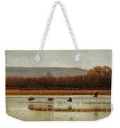 Takeoff Of The Cranes Weekender Tote Bag
