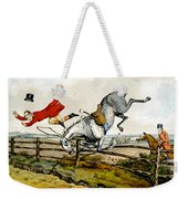 Taking A Tumble From Qualified Horses And Unqualified Riders Weekender Tote Bag