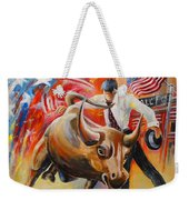 Taking On The Wall Street Bull Weekender Tote Bag