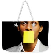 Talkative Forgetful Office Worker Weekender Tote Bag