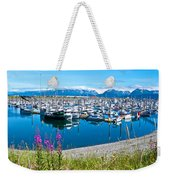 Tall Fireweed By The Marina Along Homer Spit-ak  Weekender Tote Bag
