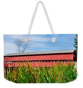 Tall Grass And Sachs Covered Bridge Weekender Tote Bag