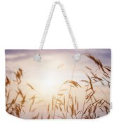 Tall Grass At Sunset Weekender Tote Bag