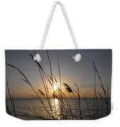 Tall Grass Sunset Weekender Tote Bag