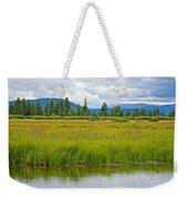 Tall Grasses In Swan Lake In Grand Teton National Park-wyoming Weekender Tote Bag