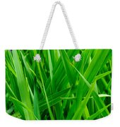 Tall Green Grass Weekender Tote Bag